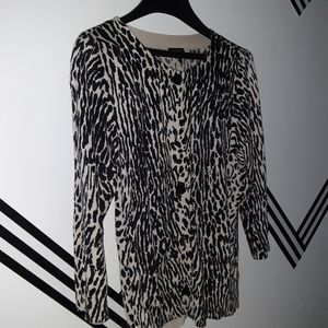 Talbots leopard sweater large